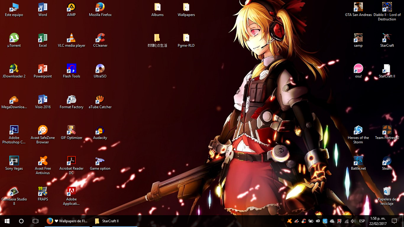Wallpapers de Flandre Scarlet!