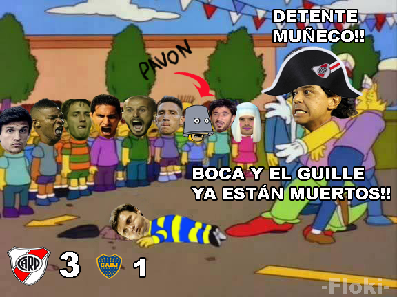River Goleó a Boca Juniors -  final del superclasico