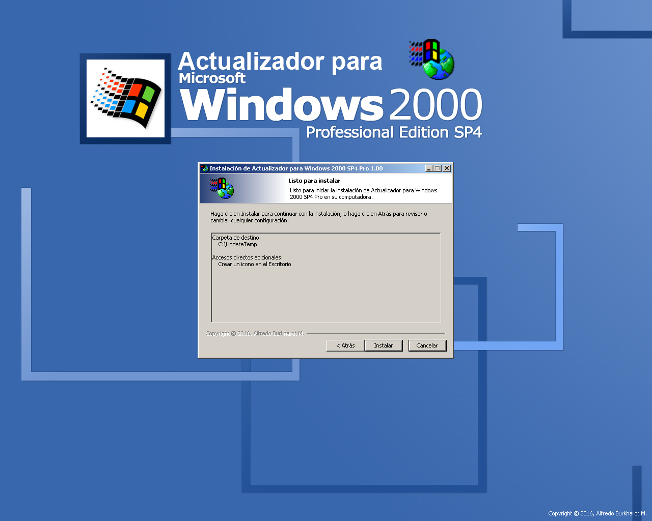 Actualizador automático de Windows 2000