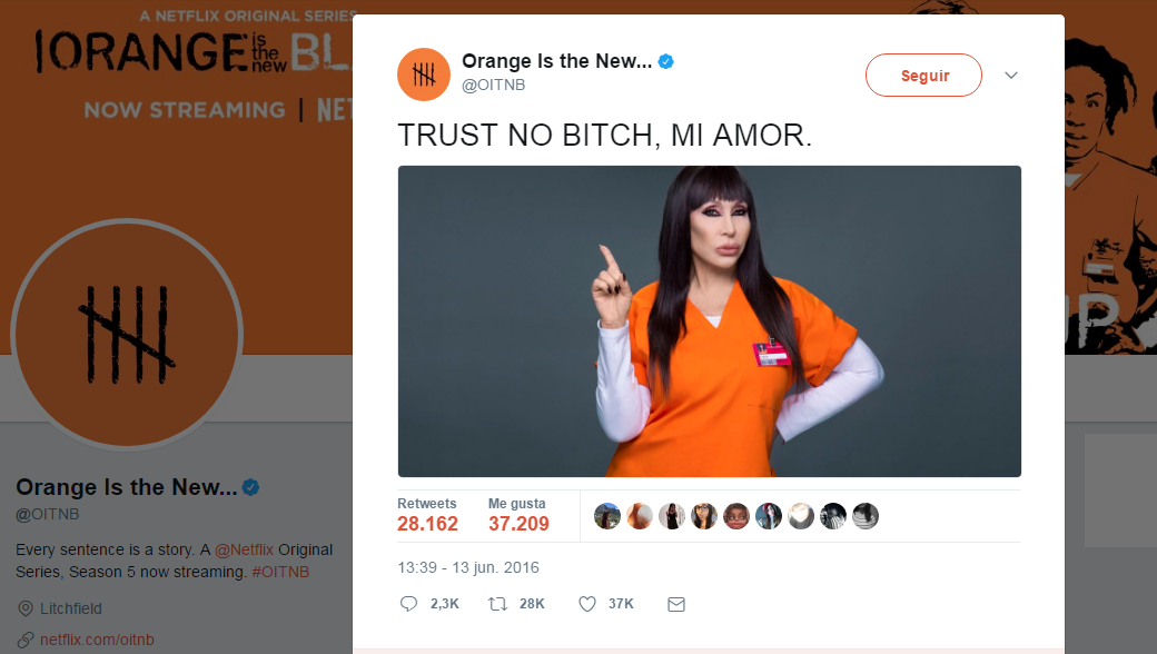Moria Casán en Orange is the New Black