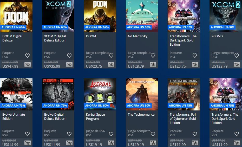 Flash Sale - PlayStation Store muchas cuentas