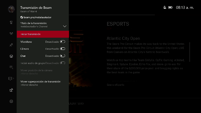 how to watch beam on xbox one