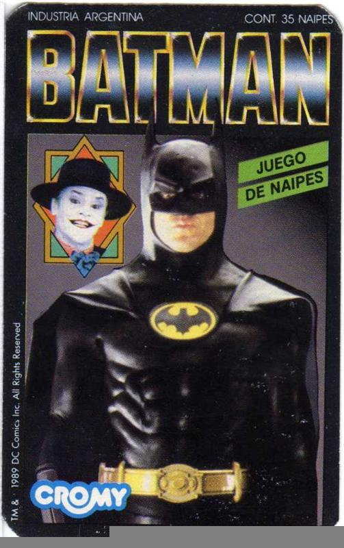 Mazo de cartas Batman.(Cromy 1989)