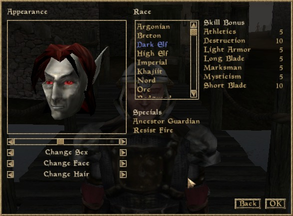 dark elf morrowind
