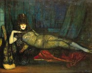 Art Deco Spanish Style Painting by Federico Beltran Masses (1885 to 1949).