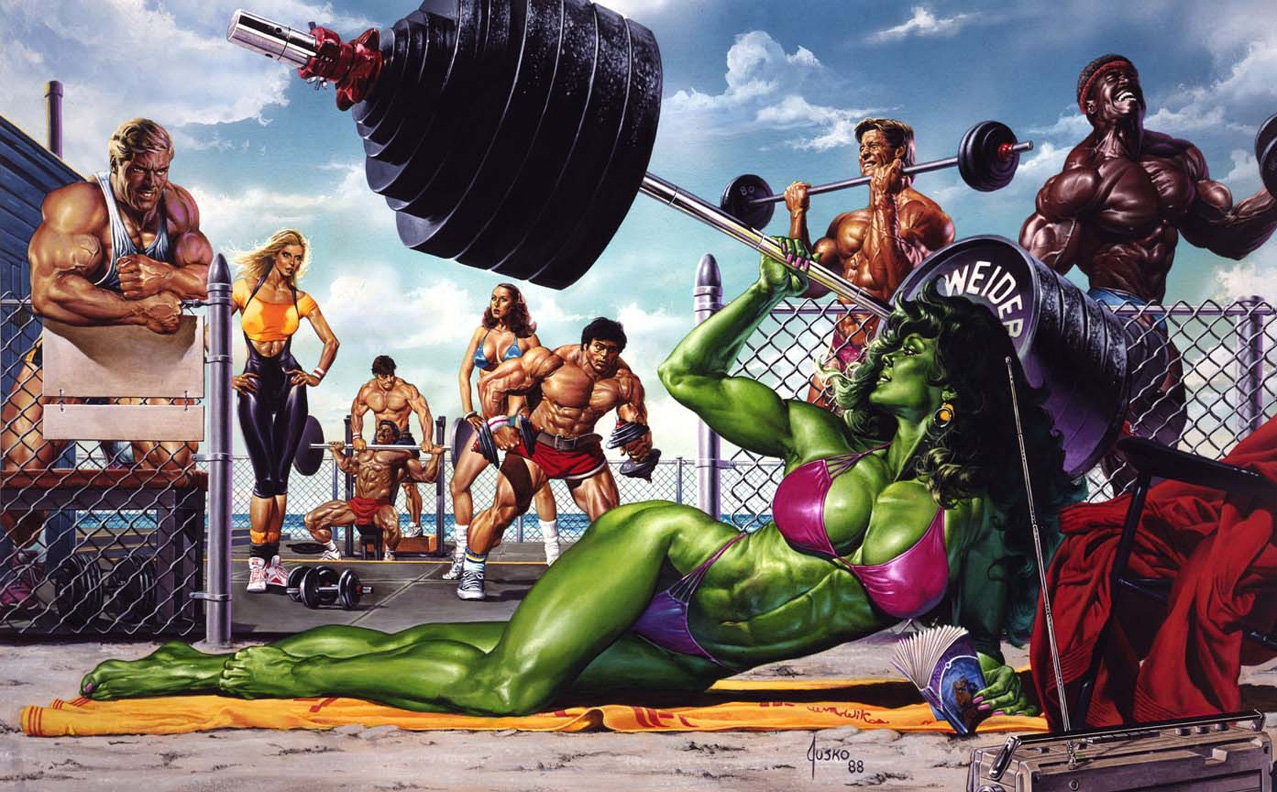 She-Hulk on Muscle B...