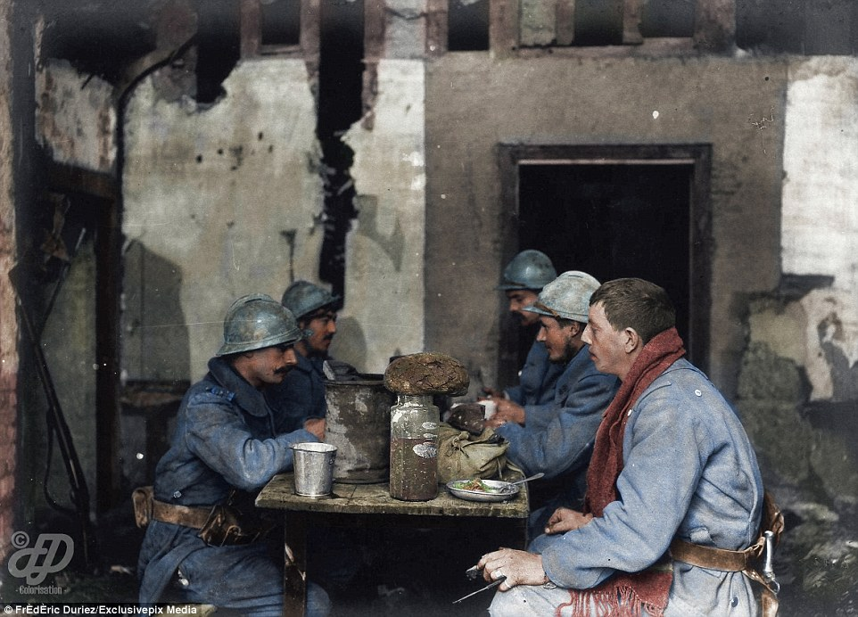 colour photos of World War One