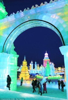 Harbin International Ice and Snow Festival, Harbin, China.