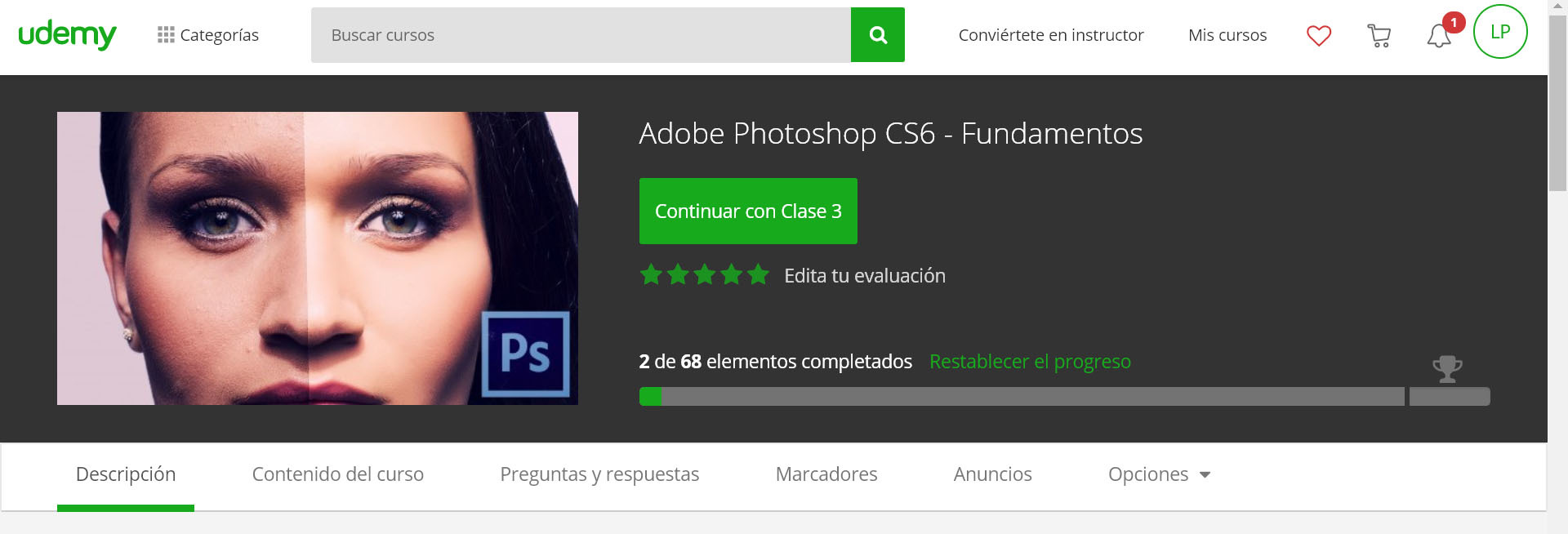 Curso gratis Adobe Photoshop CS6 con certificado